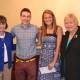 Two of the 2014 Spaulding Merit Award Winners, with President Faith Hodgkins (right) and Vice President Jennifer Walter (left)