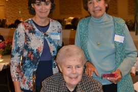 After recounting her many contributions to TSF, including her 14 year-role as Secretary, this year's  Patricia B. Mooney Volunteer Recognition Award was presented to Diane Lind.  In recognition of her outstanding service, Diane will retain the title of Secretary Emerita.