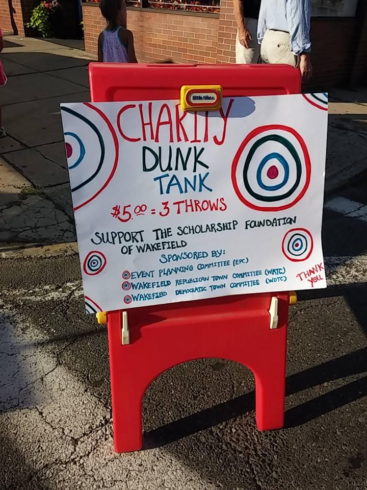 Wakefield Festival Italia Dunk Tank Sign